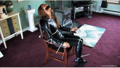 Captive In A Catsuit plus Bonus Video (MP4) - Anna Lee
