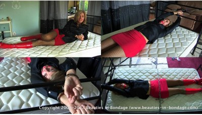 Handcuffed To A Bed (MP4) - Dakkota Grey