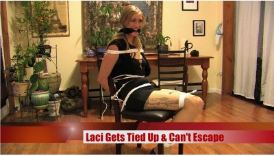 Laci Gets Tied Up & Can't Escape (WMV) - Laci Star